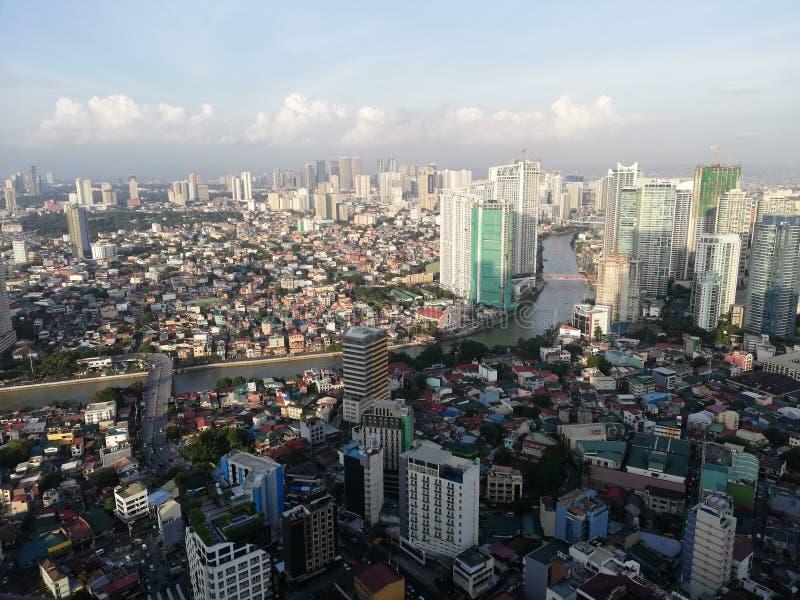 Manila - Pearl of the Orient. World`s Megacities - Manila Skyline; global city; Iconic Pasig River flowing through Metro Manila; Manila`s skyscrapers, business royalty free stock photo