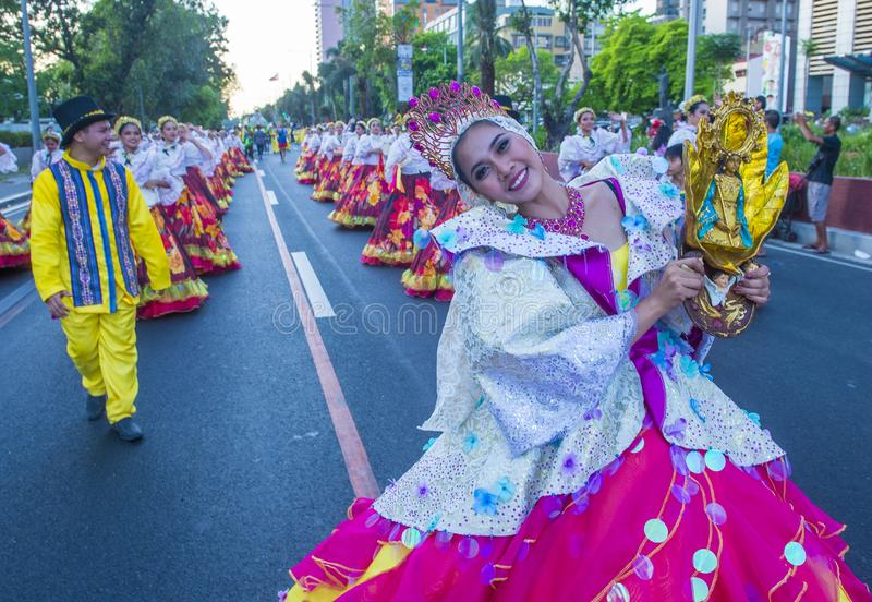 2019 Aliwan Fiesta. MANILA , PHILIPPINES - APRIL 27 :Participants in the Aliwan fiesta in Manila Philippines on April 27 2019. Aliwan Fiesta is an annual event stock photos