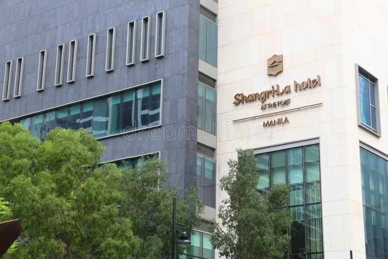 Shangri-La Hotel. MANILA, PHILIPPINES - DECEMBER 7, 2017: Shangri-La Hotel At The Fort in Metro Manila, Philippines. Hong Kong based Shangri-La Hotels and royalty free stock photos