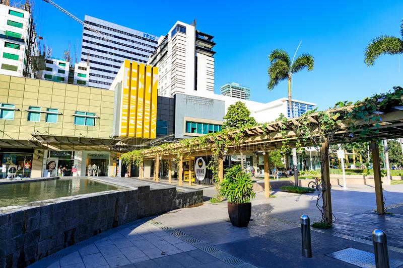 Scenery of Bonifacio High street, which is the Famous shopping street in Taguig royalty free stock photos