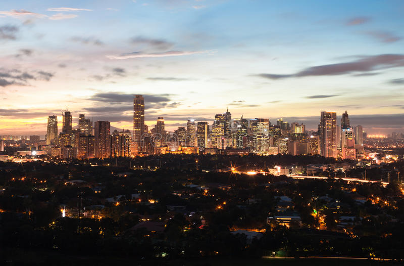 Manila, Philippines. Makati City, Manila, Philippines, South East Asia royalty free stock images