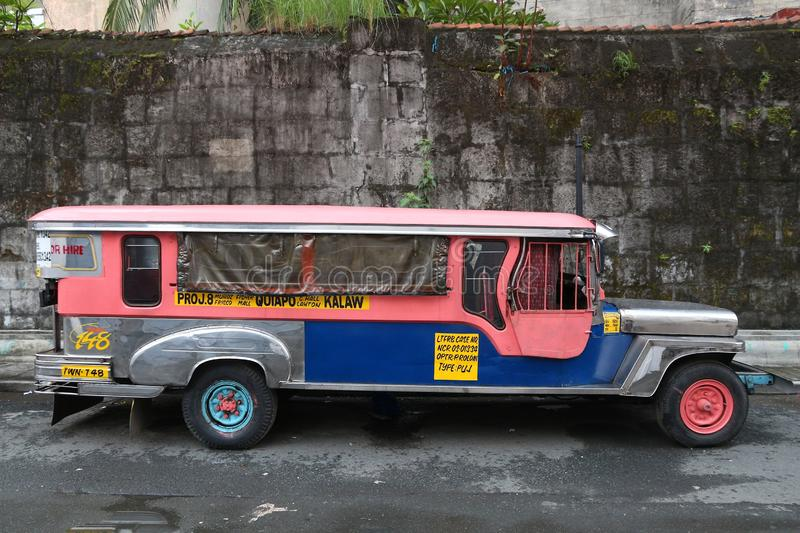 Jeepney bus, Philippines royalty free stock photography