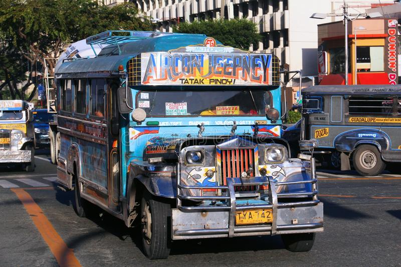 Jeepney bus royalty free stock image