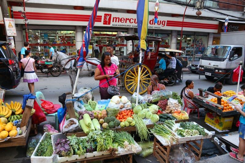 Manila city. MANILA, PHILIPPINES - NOVEMBER 25, 2017: People visit Chinatown food market in Manila, Philippines. Metro Manila is one of the biggest urban areas stock images