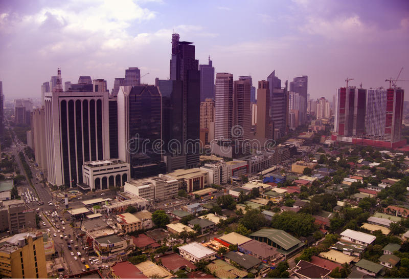 Manila, philippines. View of the central business districts in manila royalty free stock photography
