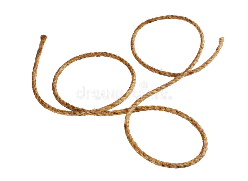 Manila rope. On a white background stock image