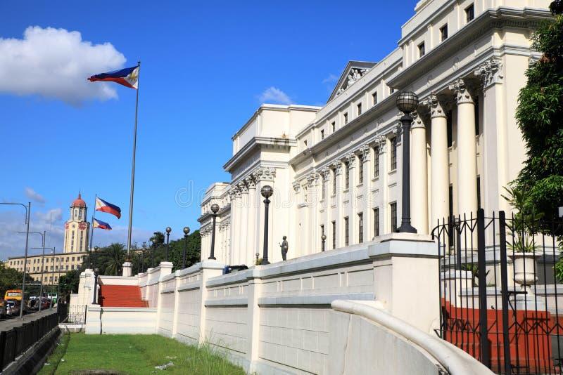 Manila stadssikt royaltyfria bilder