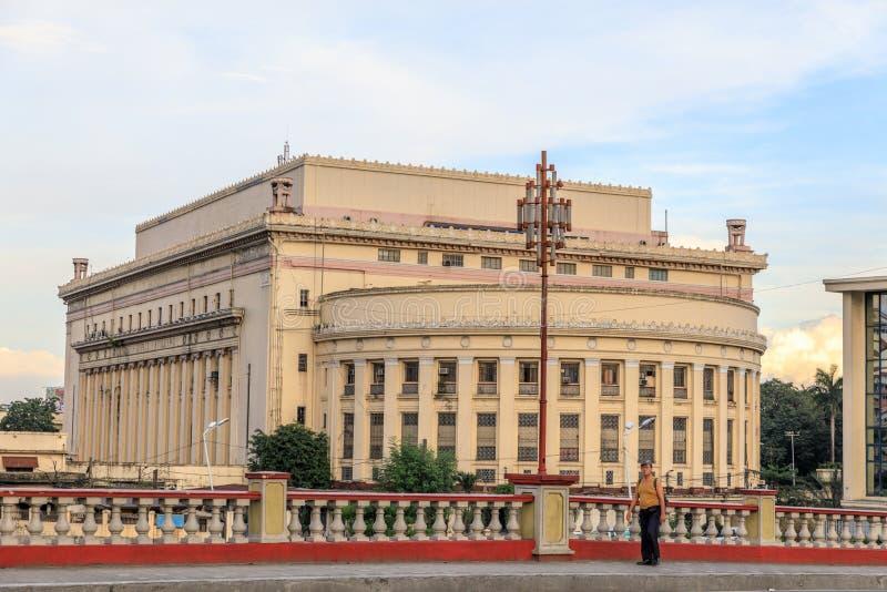Manila stolpe - kontor arkivfoto
