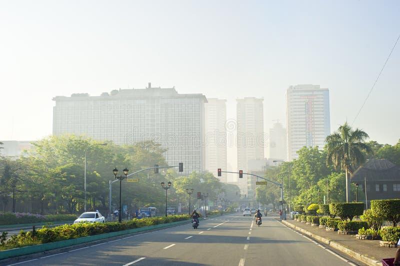 Manila-Straße am Sonnenaufgang lizenzfreies stockbild