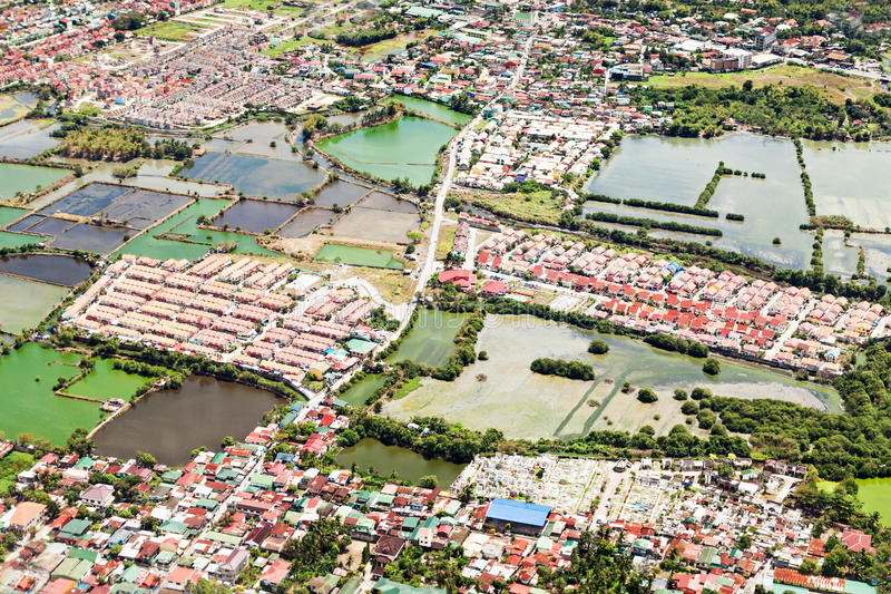 Manila suburb stock photography