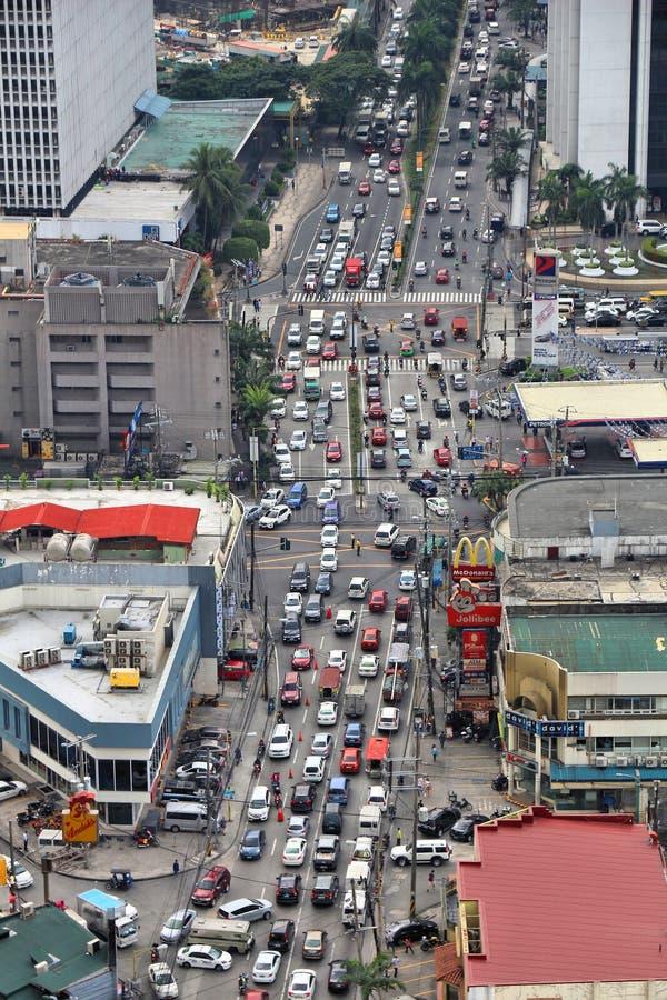 Manila traffic jam royalty free stock photos