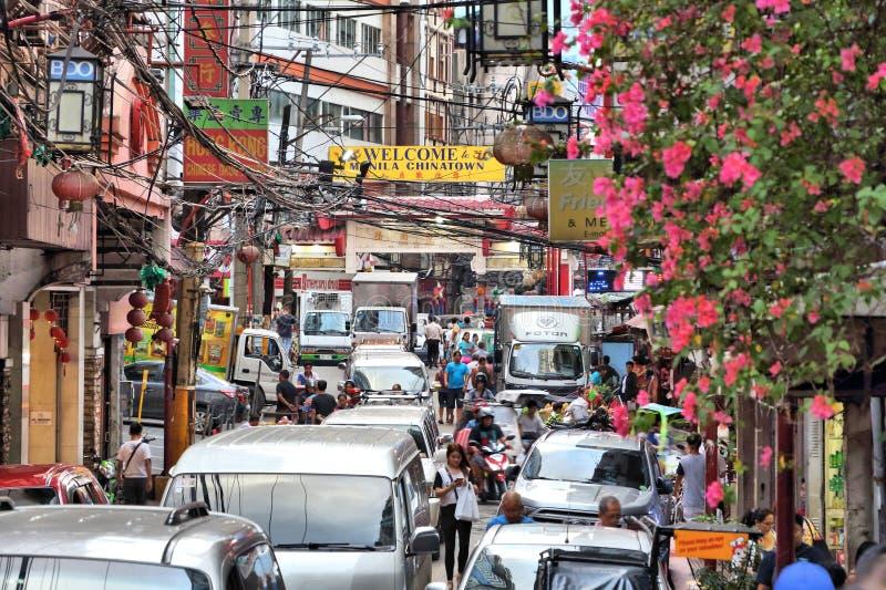 Manila trafikblodstockning royaltyfria bilder