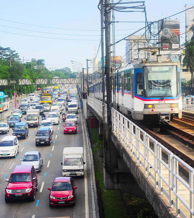 Manila urban traffic, Philippines stock photography