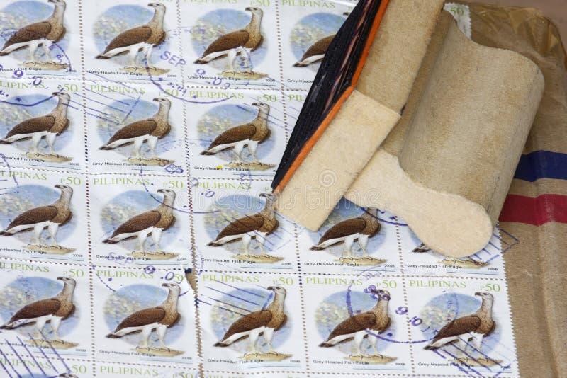 manila znaczki obrazy royalty free