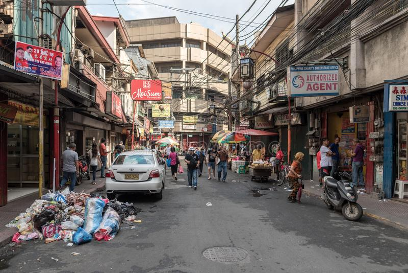 MANILLE, PHILIPPINES - 18 JANVIER 2018 : Manille Chinatown, Philippines image libre de droits