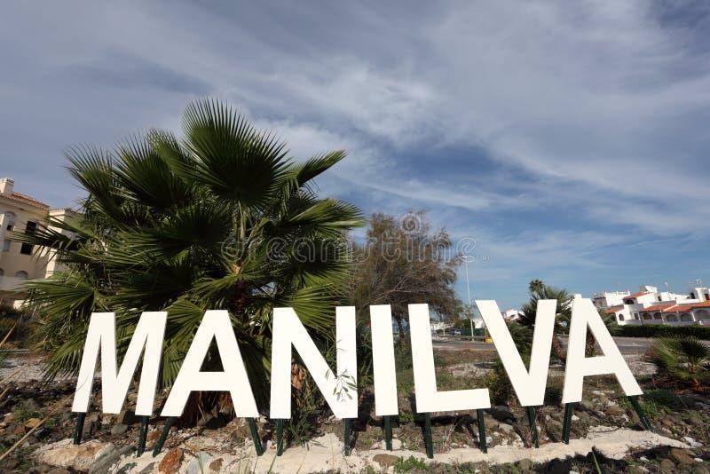 Manilva, Costa del Sol, Spanje royalty-vrije stock foto's