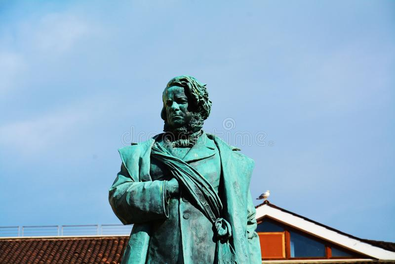 Manin bronza il busto, a Venezia, Europa immagini stock