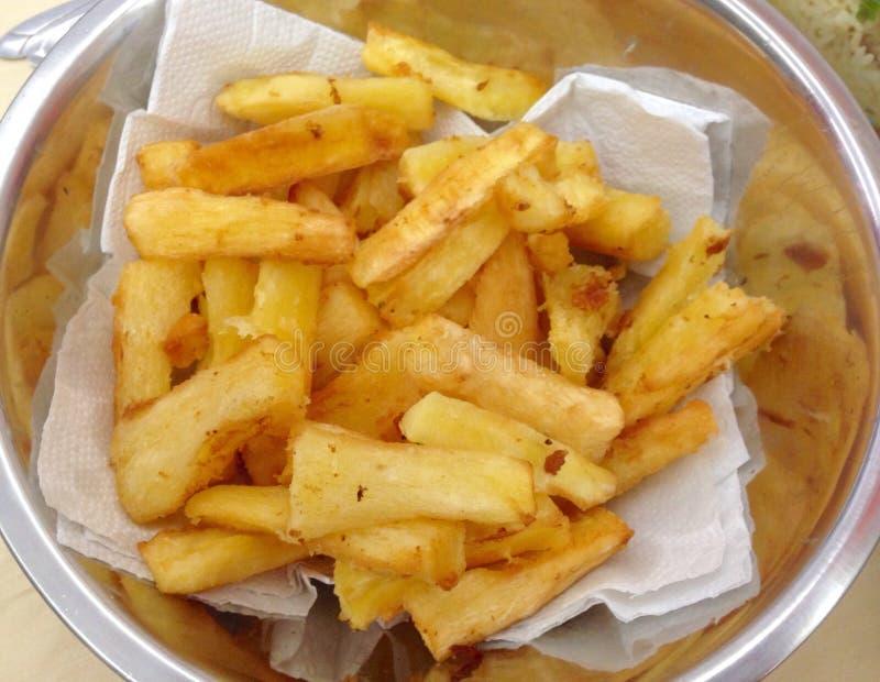 Manioc frit photo libre de droits