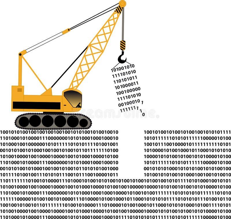 Manipulação de dados ilustração do vetor
