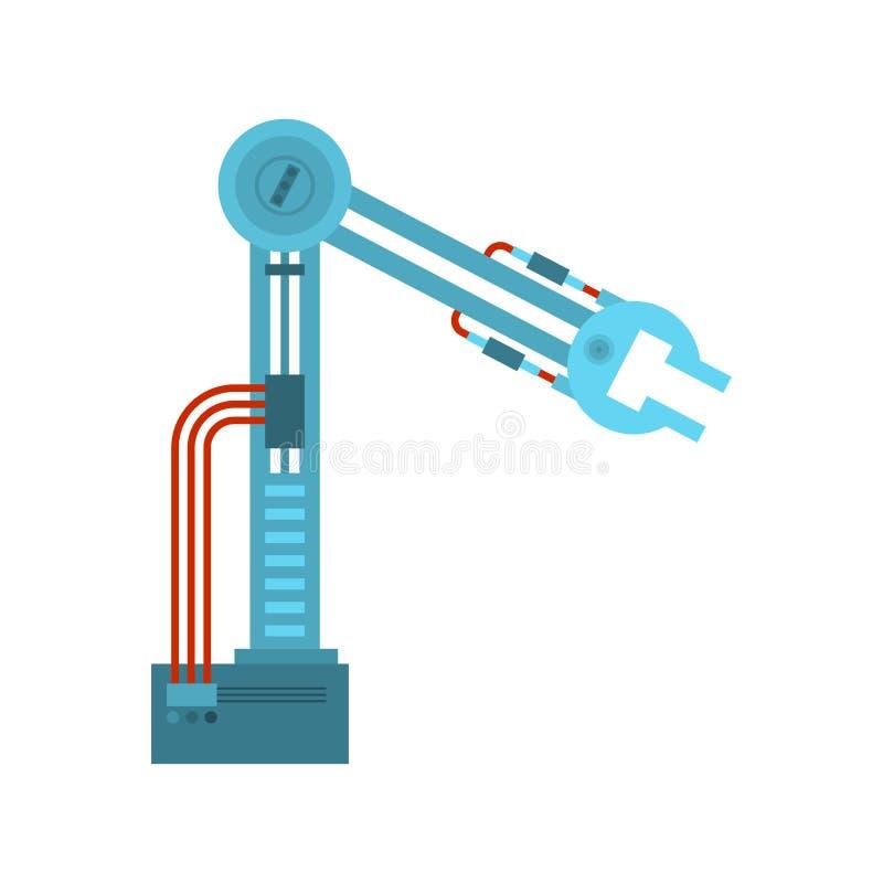 Manipulador do robô industrial isolado Mão mecânica industri ilustração royalty free