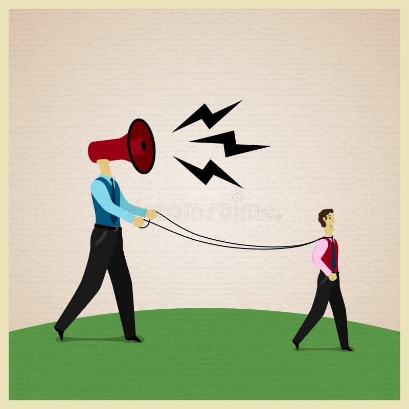 Manipulation illustration de vecteur