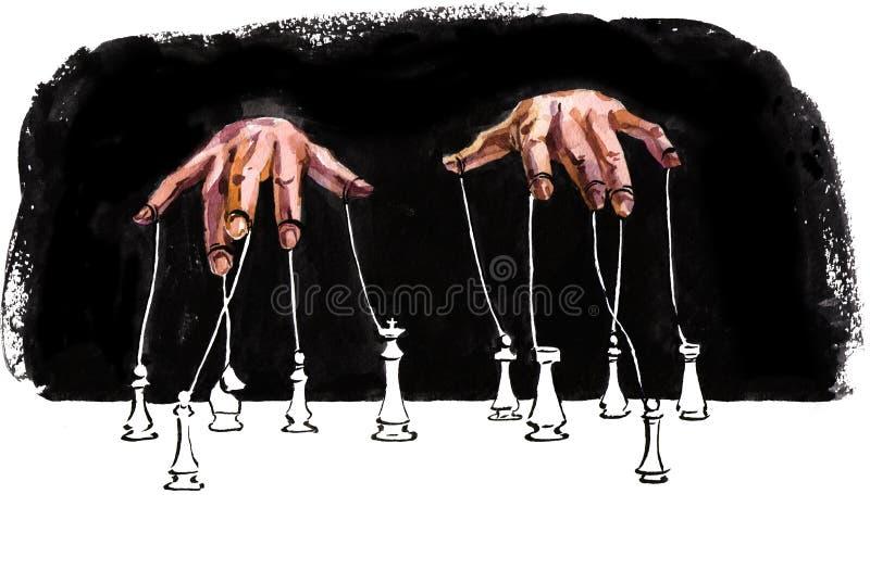 manipulation illustration libre de droits
