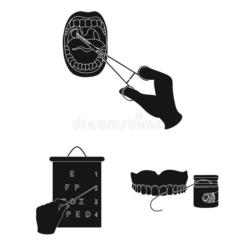 Manipulation by hands black icons in set collection for design. Hand movement in medicine vector symbol stock web. Manipulation by hands black icons in set vector illustration