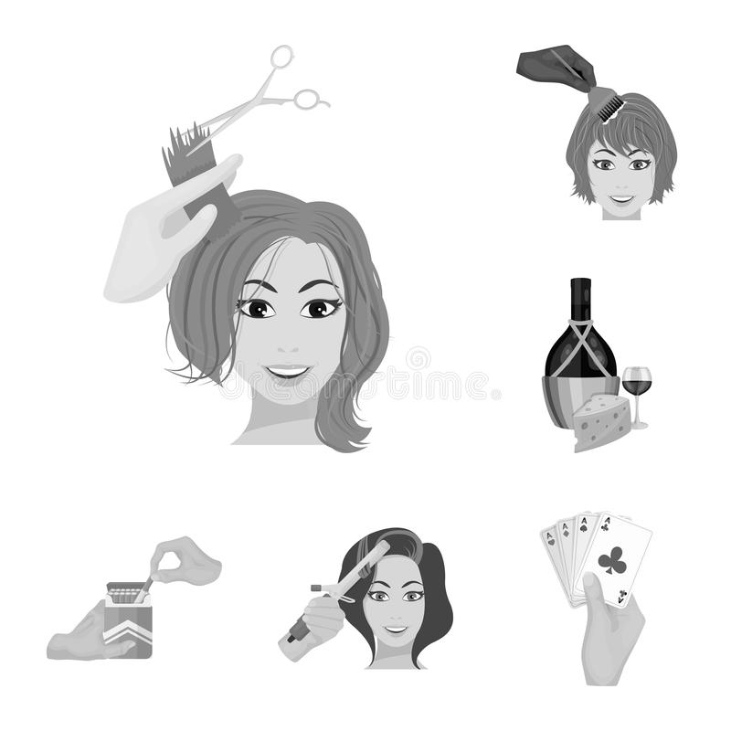 Manipulation by hands monochrome icons in set collection for design. Hand movement vector symbol stock web illustration. Manipulation by hands monochrome icons vector illustration