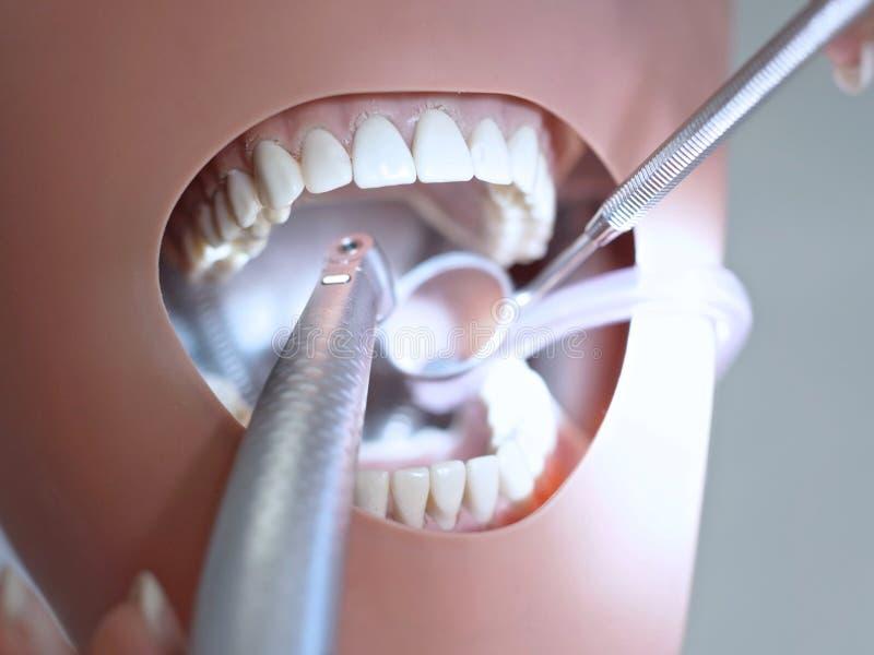 Manipulations dentaires avec le fantôme photo stock