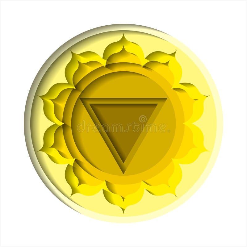 Manipura chakra icon stock illustration