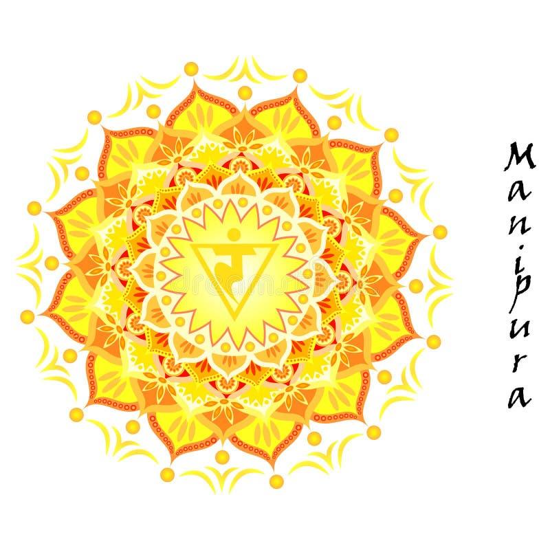 Manipura chakra royalty free stock photo