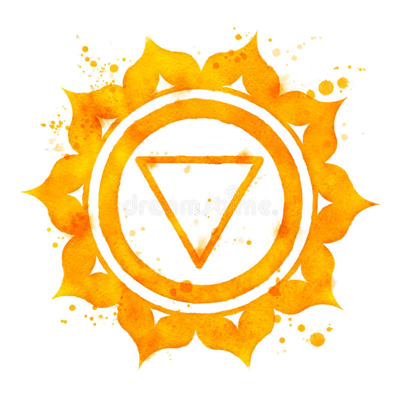 Manipura chakra symbol. vector illustration
