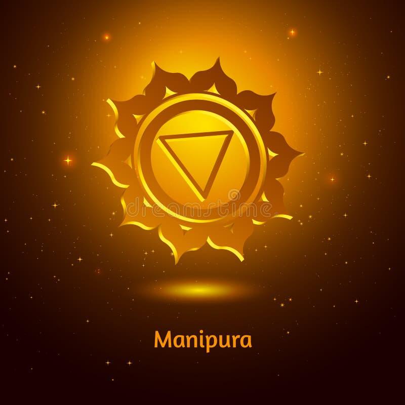Manipura chakra. Vector illustration of Manipura chakra royalty free illustration