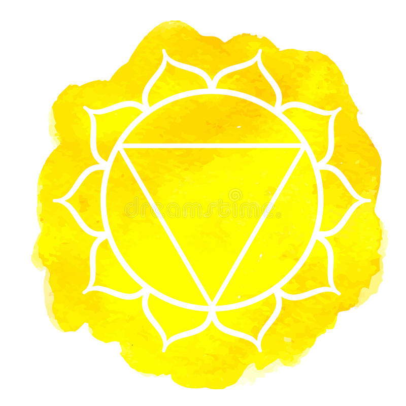 Manipure chakra stock illustration