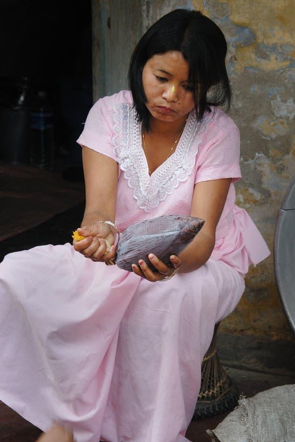 manipuri妇女 免版税图库摄影