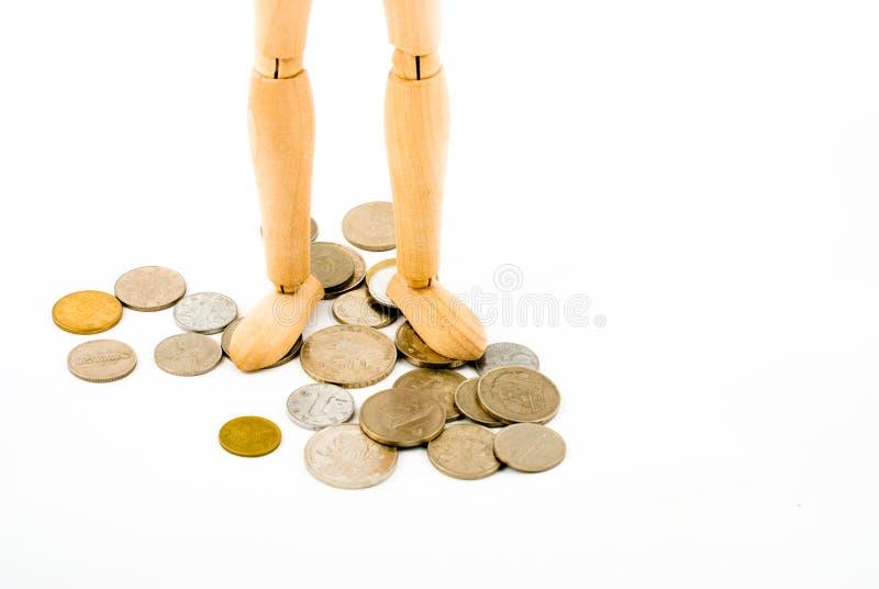 Download Maniquí con las monedas imagen de archivo. Imagen de figurine - 7280547