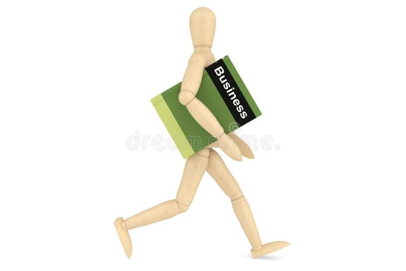 Maniquí de madera con el libro imagen de archivo libre de regalías