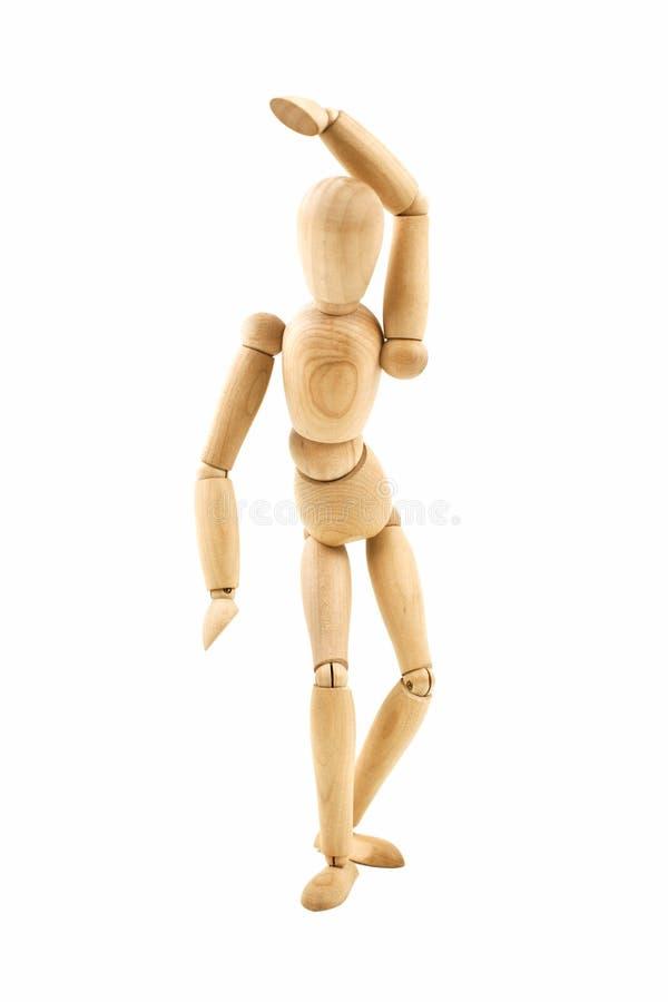 Maniquí de madera de baile aislado foto de archivo libre de regalías