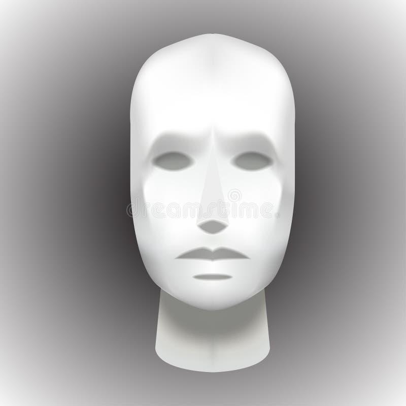 Maniquí en blanco principal femenino - vector EPS de la vista delantera libre illustration