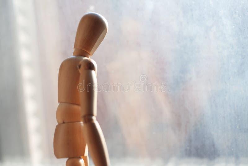 Maniquí modelo de madera foto de archivo