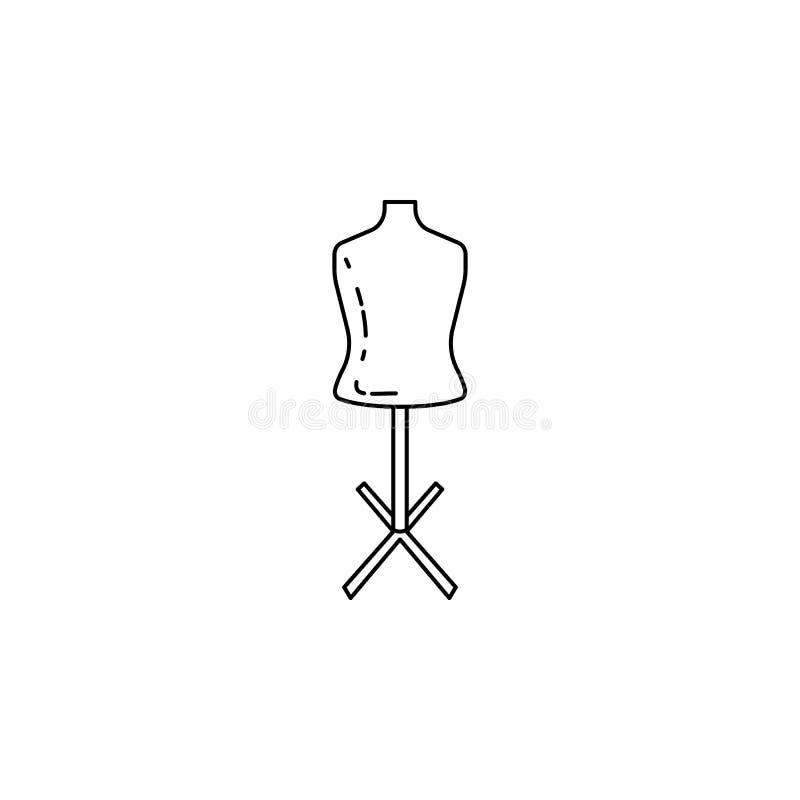maniquí para adaptar el icono Elemento de los instrumentos de medida para los apps móviles del concepto y del web Línea fina icon libre illustration