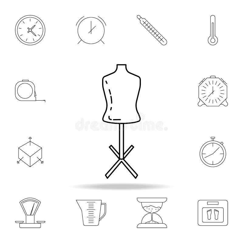 maniquí para adaptar el icono Sistema detallado de iconos de los instrumentos de medida Diseño gráfico superior Uno de los iconos ilustración del vector