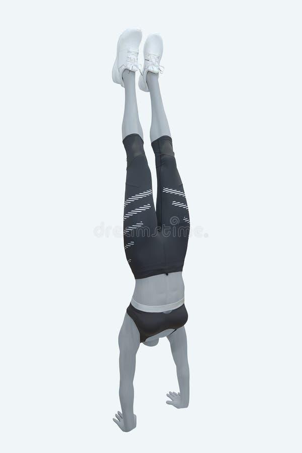 25adacbfc2 Maniquí Femenino Vestido En Ropa Del Atletismo Del Deporte Imagen de ...