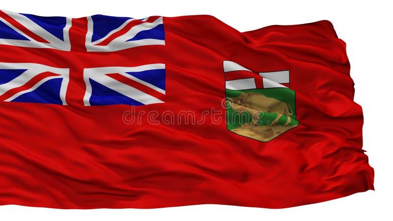 Manitoba City Flag, Canada, Isolated On White Background. Manitoba City Flag, Country Canada, Isolated On White Background stock illustration
