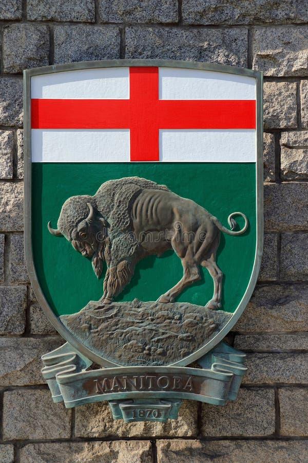 Manitoba Coat of Arms, provincia di Prairie, Canada occidentale fotografia stock