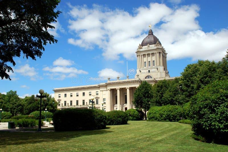 Manitoba-Gesetzgebungsgebäude stockbild