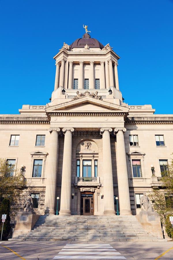 Manitoba lagstiftnings- byggnad royaltyfria bilder