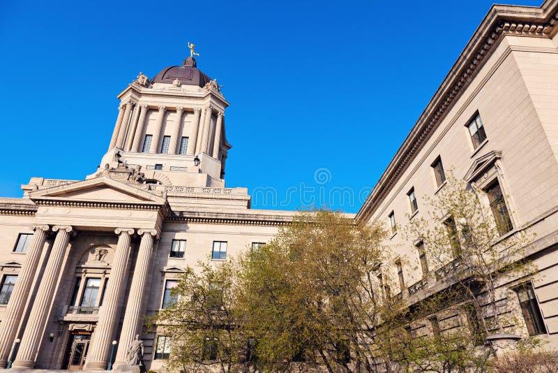 Manitoba lagstiftnings- byggnad arkivfoto