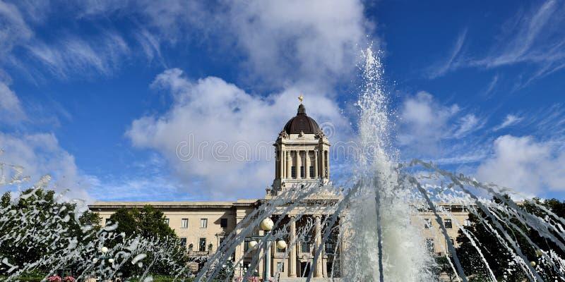 Manitoba lagstiftnings- byggnad royaltyfri fotografi