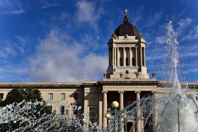 Manitoba lagstiftnings- byggnad arkivbild